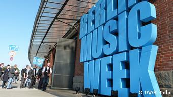 Berlin Music Week sign, Copyright: B. Kolb