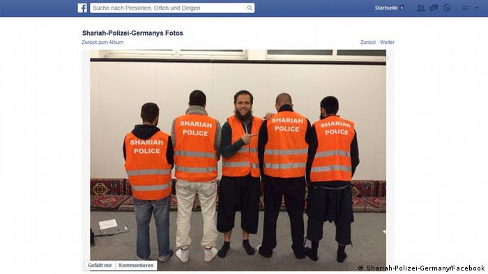 Sharia Police shown in a Facebook photo