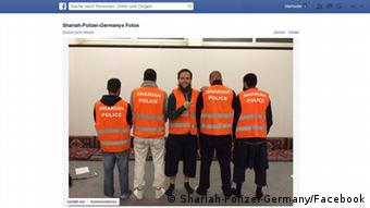 Screenshot Sharia Police in Wuppertal Facebook