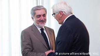 Abdullah with Steinmeier in Afghanistan