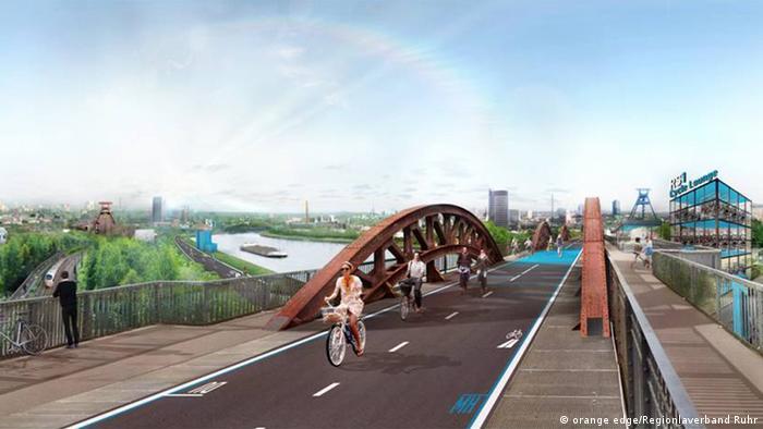 Collage of the Ruhrschnellweg RS1 (Picture: orange edge/Regionlaverband Ruhr)