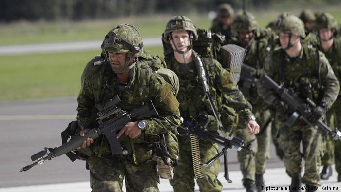 Учения НАТО в Латвии (фото из архива)