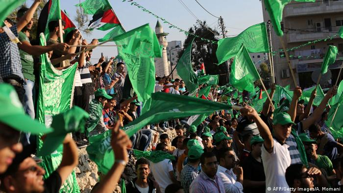 Palästina Demonstration der Hamas in Ramallah (AFP/Getty Images/A. Momani)