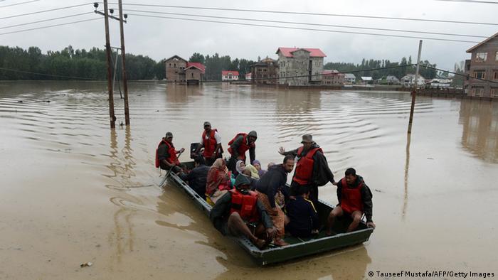 Bildergalerie Indien Pakistan Überschwemmungen 07.09.2014