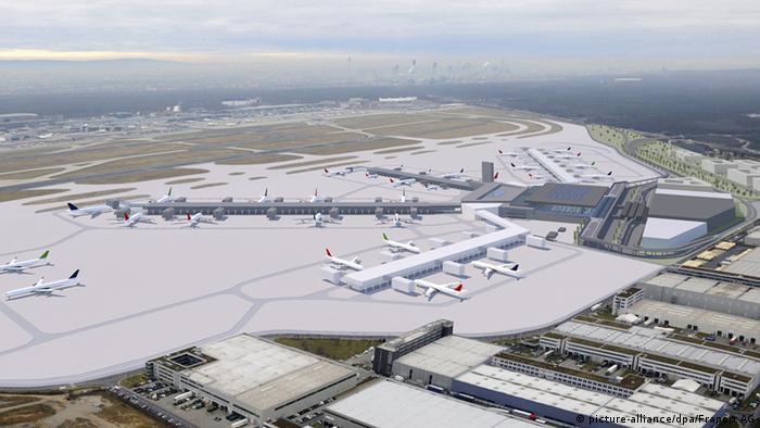 Flughafen in Frankfurt Terminal 3 Computergrafik