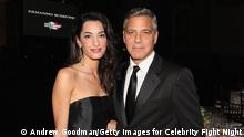 George Clooney und Amal Alamuddin (Andrew Goodman/Getty Images for Celebrity Fight Night)