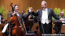Deutschland Beethovenfest Bonn Dirigent John Eliot Gardiner und der Cellist Gautier Capucon