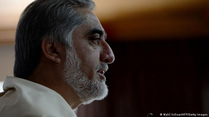 Afghan presidential candidate Abdullah Abdullah addresses a gathering on the last day of campaigning, at his residence in Kabul on June 11, 2014 (Photo: WAKIL KOHSAR/AFP/Getty Images)