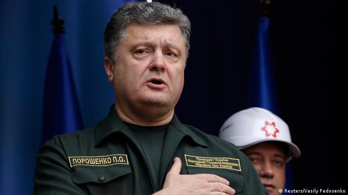 Президент України Петро Порошенко під час візиту до Маріуполя 8 вересня