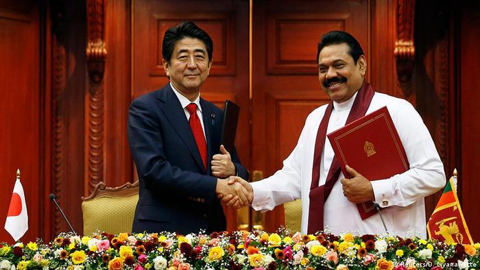 Sri Lanka Japan Ministerpräsident Shinzo Abe bei Präsident Mahinda Rajapaksa in Colombo