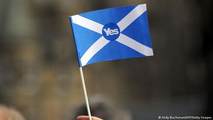 Pro-Unabhängigkeitsfahne in Schottland