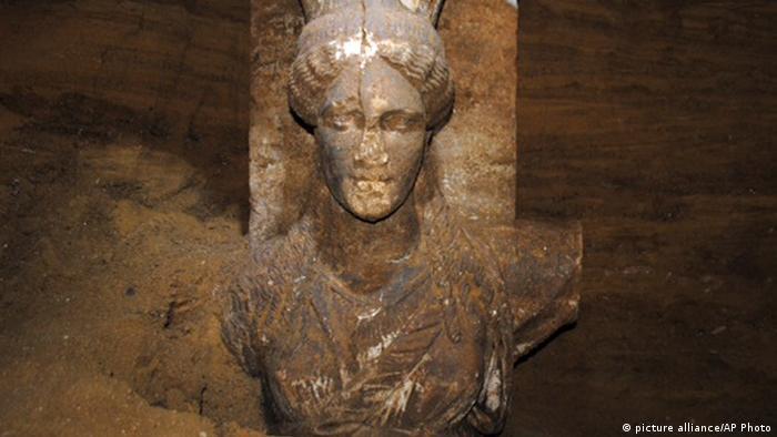 Griechenland Ausgrabung Grab Amphipolis Gruft