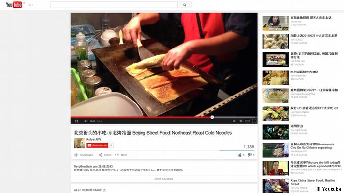 Screenshot Youtube Peking Imbissbude
