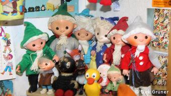 Куклы, сделанные в ГДР и выставленные в Кабинете остальгии