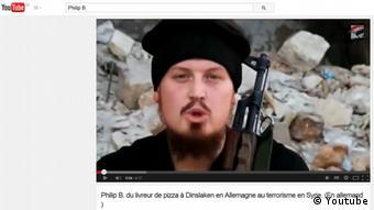 Screenshot eines Videos von von Philip Bergner alias Abu Osama - Foto: Youtube