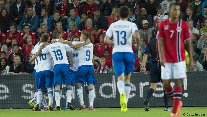 Fußball EM Norwegen - Italien