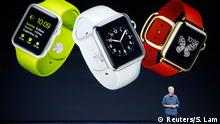 Apple CEO Tim Cook speaks about the Apple Watch during an Apple event at the Flint Center in Cupertino, California, September 9, 2014. REUTERS/Stephen Lam (United States - Tags: SCIENCE TECHNOLOGY BUSINESS TPX IMAGES OF THE DAY)