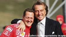 Ferrari Chef Luca Cordero di Montezemolo mit Schumacher 2006