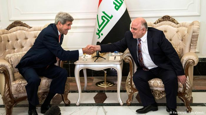 John Kerry mit Abadi in Bagdad