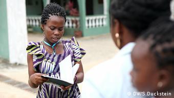 DW Akademie's workshop radio journalism at Ghana Community Radio Network (photo: DW Akademie/Stefanie Duckstein).