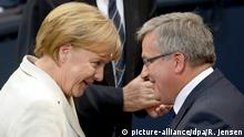 Deutschland Polen Bundestag Gedenkstunde Kriegsbeginn Komorowski und Merkel