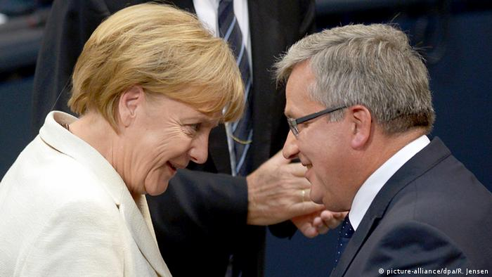 Kanclerz Merkel i prezydent Komorowski w Bundestagu