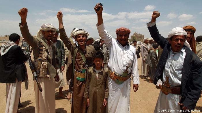 Jemen Protestcamp der schiitischen Saidi-Rebellen / Huthi Bewegung in Sanaa (AFP/Getty Images/M. Huwais)