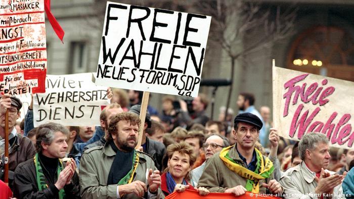Демонстрация в ГДР. 1989 г.