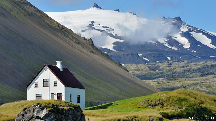 Isaland Snaefellsjökull Vulkan und Gletscher (Fotolia/frenk58)