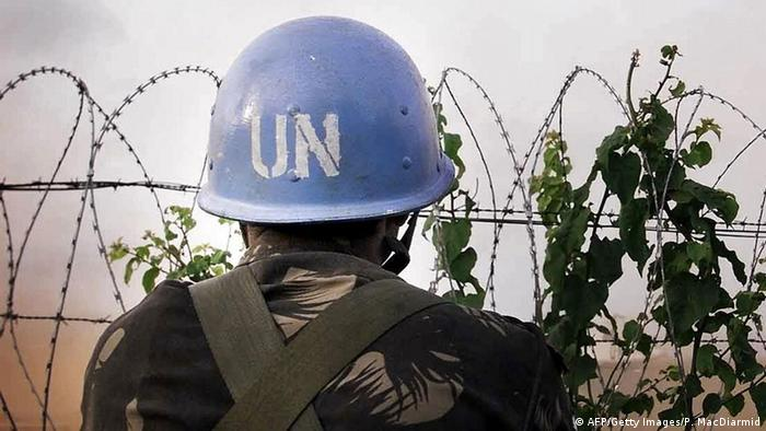 A soldier with the UN peacekeepers (AFP/Getty Images/P. MacDiarmid)
