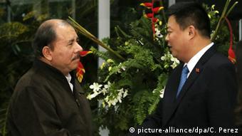 Daniel Ortega und Wang Jing