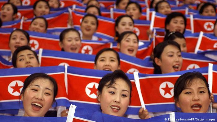 Bildergalerie Asien Spiele 2014 in Incheon Südkorea nordkoreanische Cheerleaders Archiv