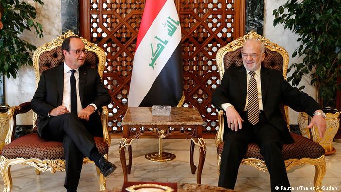 Irak Präsident Francois Hollande in Bagdad Ibrahim al-Jaafari