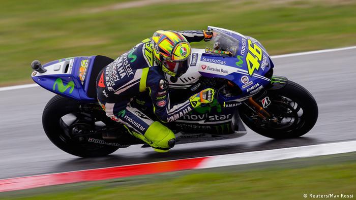 Valentino Rossi Sturz beim Grand Prix in Italien 12.09.2014 (Reuters/Max Rossi)