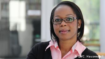 Mariama Kouotou, journalism traineeship, Deutsche Welle (photo: DW Akademie/Charlotte Hauswedell).