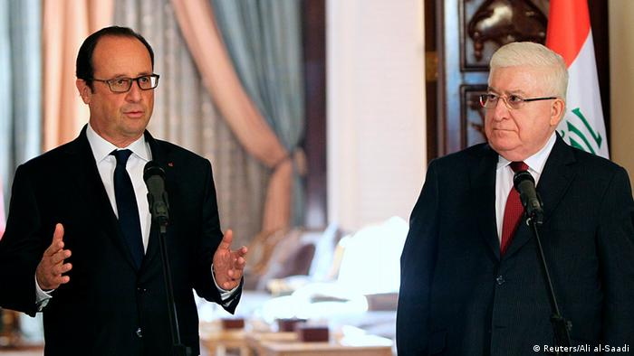 Hollande in Bagdad mit Fuad Masum (r.) (Foto: Reuters)