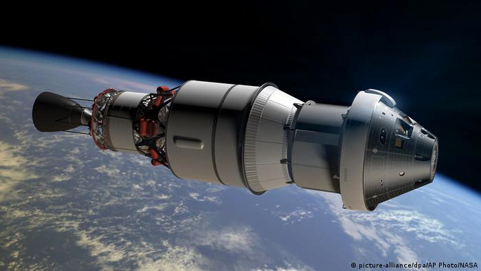 Orion Raumfahrtkapsel Computersimulation (picture-alliance/dpa/AP Photo/NASA)