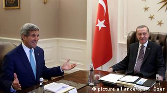 Джон Керри и Реджеп Тайип Эрдоган, 12 сентября 2014 г.