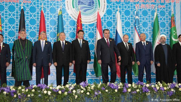 Gipfeltreffen der Shanghaier Organisation für Zusammenarbeit SCO in Duschanbe, Tadschikistan (Afg. President Office)