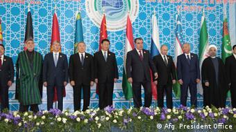 (Archiv) Gipfeltreffen der Shanghaier Organisation für Sicherheit von 2014 in Duschanbe, Tadschikistan. (Foto: Reuters)