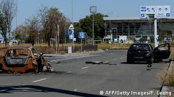 Der Flughafen der Millionenstadt Donezk ist inzwischen zerstört (Foto: FRANCISCO LEONG/AFP/Getty Images)