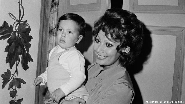 Софи Лорен с сыном