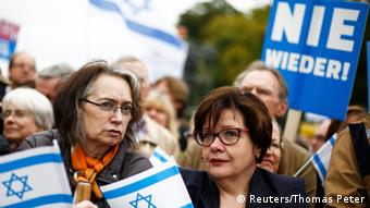 Demonstration gegen Antisemitismus in Berlin 14.09.2014 (Reuters/Thomas Peter)
