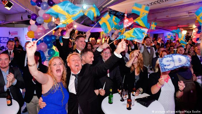 Parlamentswahl in Schweden 14.09.2014 Feier der Sozialdemokraten