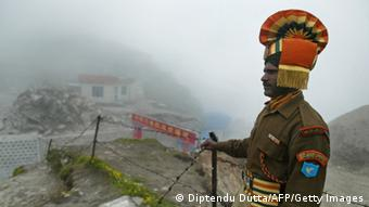 Indien Grenzsoldat China Archiv 2008 (Diptendu Dutta/AFP/Getty Images)