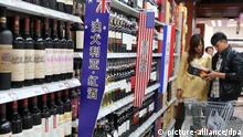 China Wein Regal Geschäft Archiv 2013