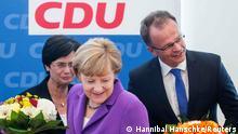 Landtagswahl Brandenburg und Thüringen 15.09.2014 Merkel mit Lieberknecht und Schierack