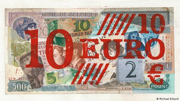 10-евровая банкнота от Михаэля Эрбаха