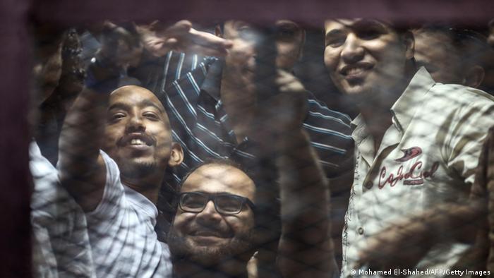 Prozess gegen Blogger in Ägypten August 2014