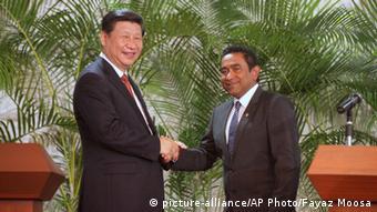Chinesischer Präsident Xi Jinping auf den Malediven 15.09.2014